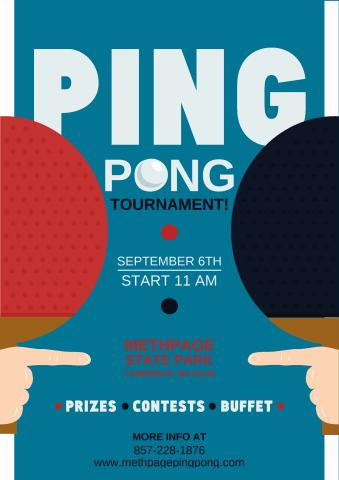 Ping Pong Tournament poster template