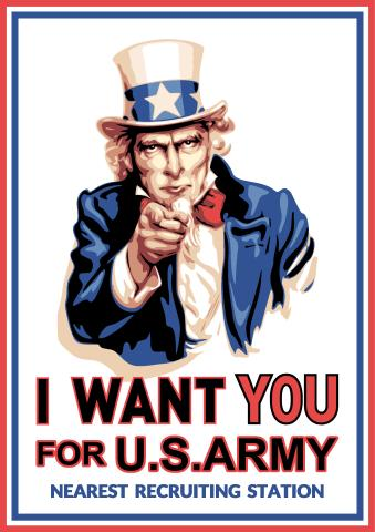 I Want You poster template