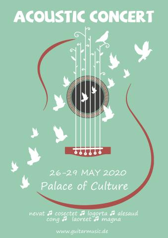 Acoustic Concert 2 poster template