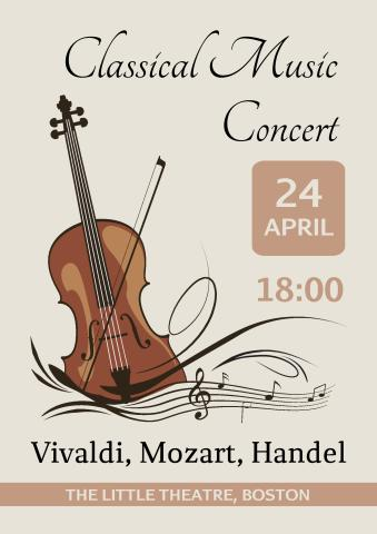 Classical Concert 1 poster template