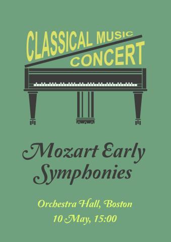 Classical Concert 2 poster template