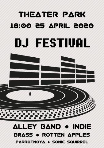 DJ Festival poster template