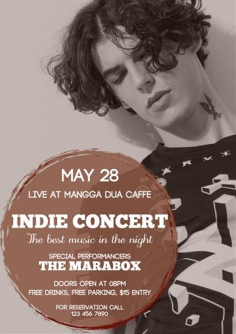 indie concert poster template how to design an indie concert poster