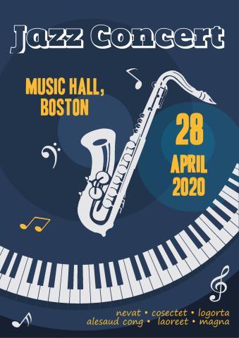 Jazz Concert 1 poster template
