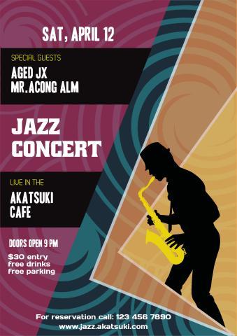 Jazz Concert 2 poster template
