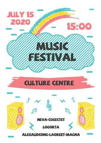 Music Festival 1 poster template