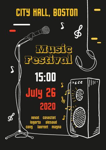 Music Festival 3 poster template