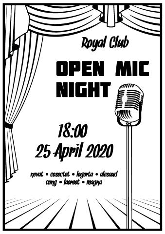 Open Mic Night poster template