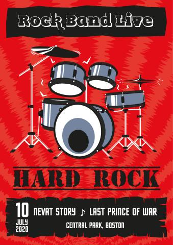 Rock Concert poster template, How to print a Rock Concert poster...
