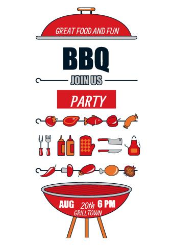 bbq party poster template how to design a bbq party poster. Black Bedroom Furniture Sets. Home Design Ideas