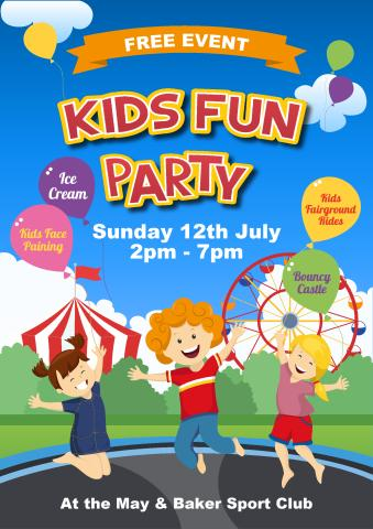 Children Party poster template