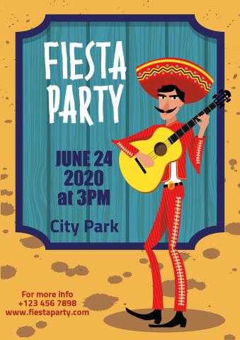Fiesta Party 2 poster template