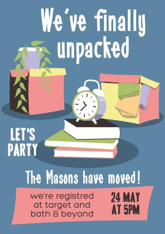 Housewarming Party 2 poster template