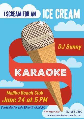 Karaoke Party 2 poster template