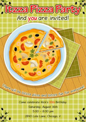 Pizza Party poster template