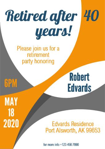 Retirement Party 1 Poster Template