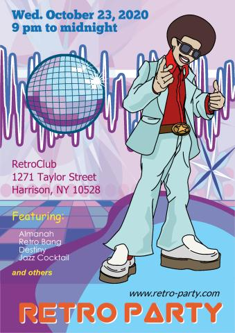 Retro Party 1 poster template