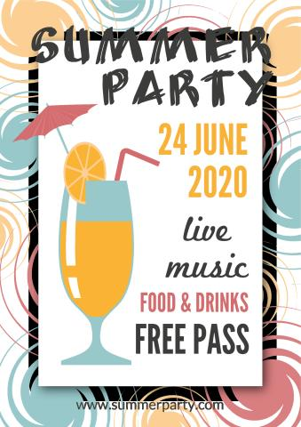 Summer Party 1 poster template