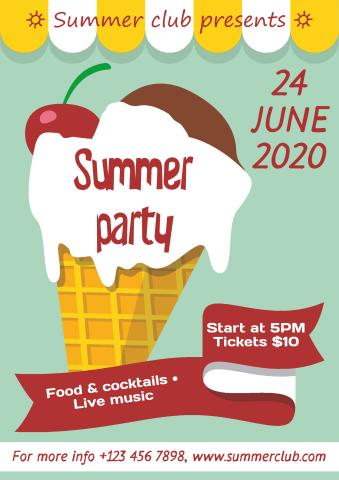 Summer Party 3 Poster Template