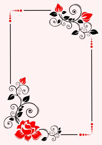 Floral 1 poster background template