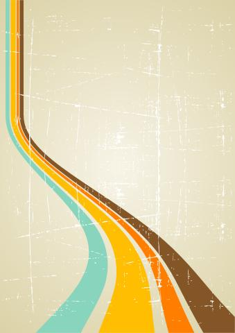 Retro poster background template