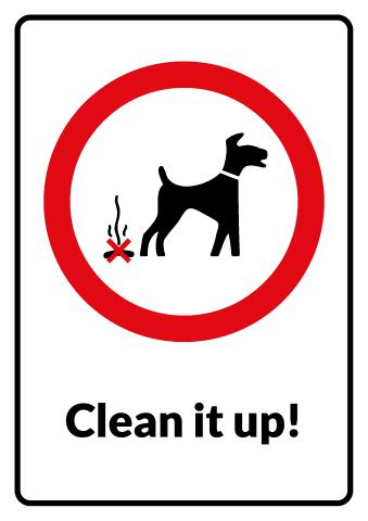 Clean It Up sign template