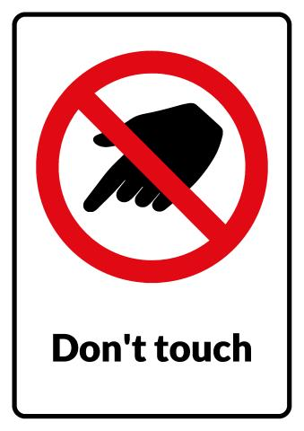 Do Not Touch sign template