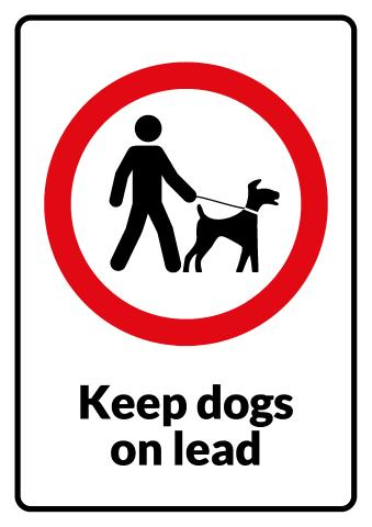 Keep Dogs on Lead sign template