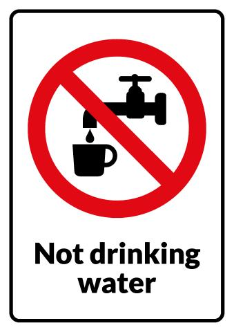No Drinking sign template