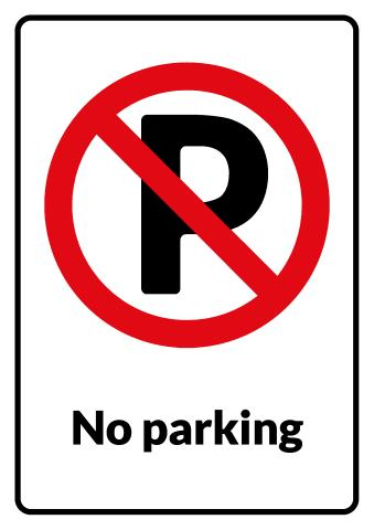 No parking sign template how to make a no parking sign for No parking signs template