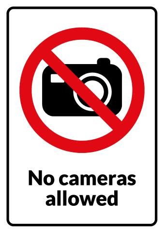 No Photography sign template