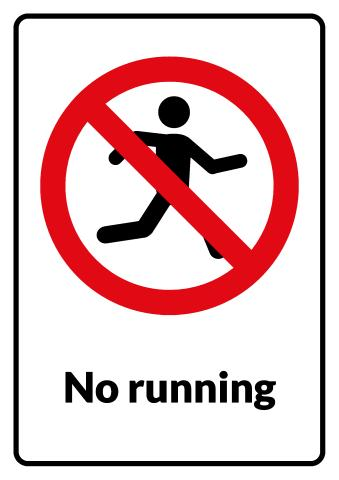No Running sign template