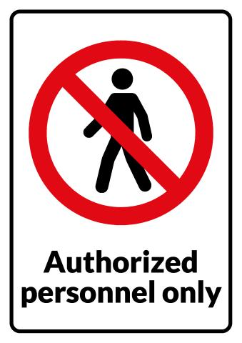 No Unauthorized Personnel sign template