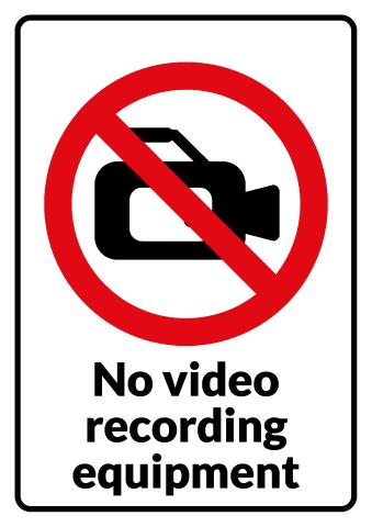 No Video sign template