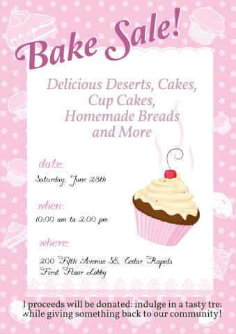 Bake Sale Poster Template, How To Design A Bake Sale Poster