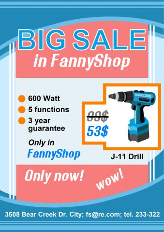 Big Sale poster template