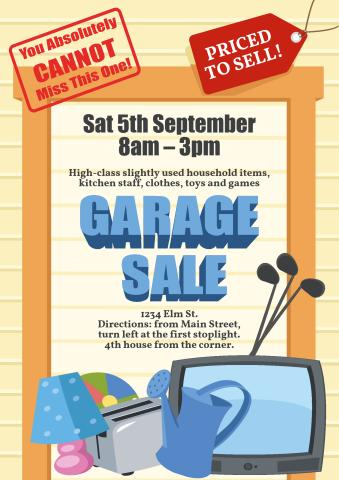 download garage sale signs templates create your own garage sale poster