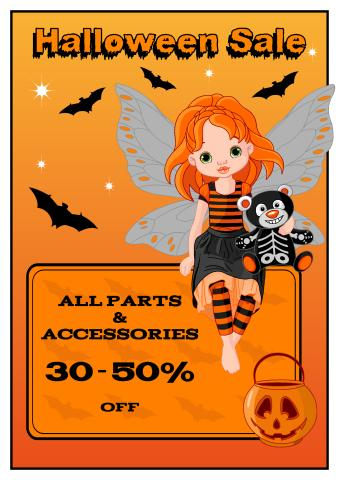 Halloween Sale poster template
