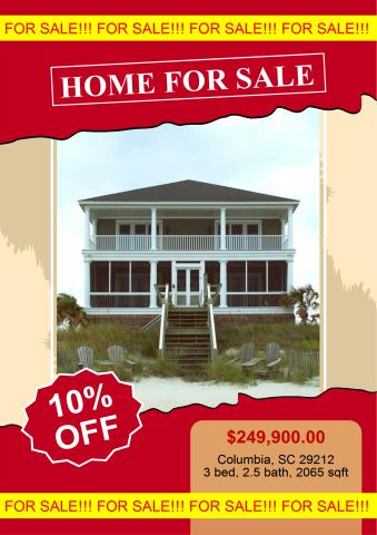 Home For Sale Poster Template  For Sale Poster Template