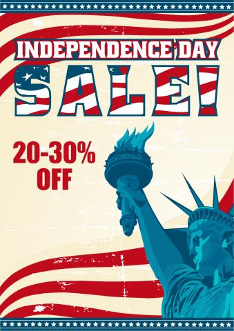 Independence Day Sale poster template